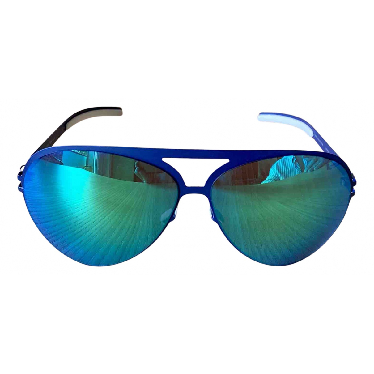 Mykita N Blue Metal Sunglasses for Men N
