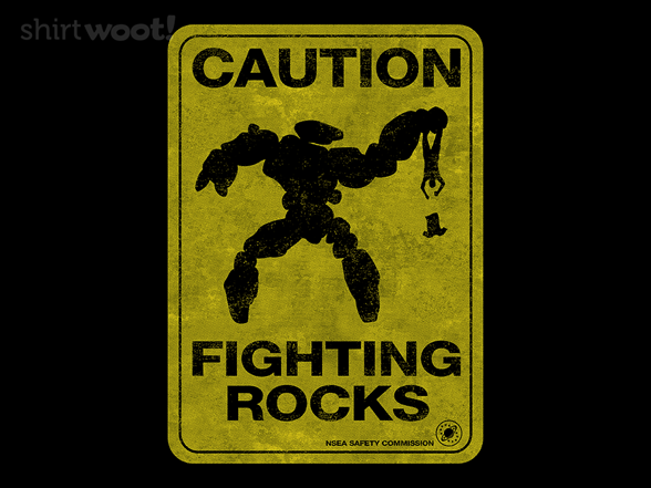 Caution - Fighting Rocks T Shirt