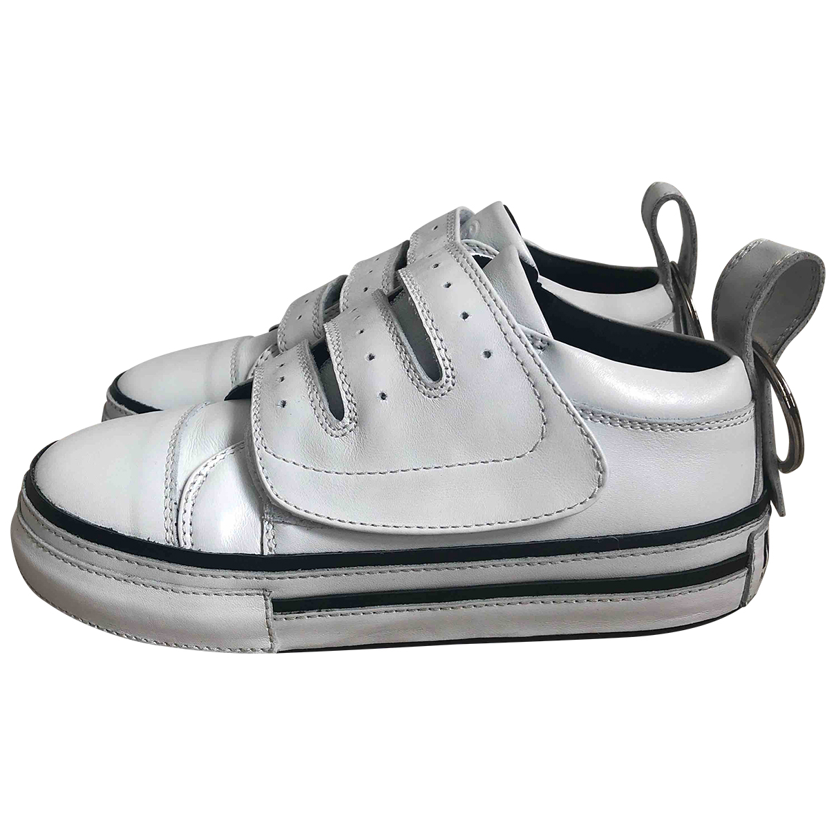 Mm6 \N White Leather Trainers for Women 37 EU