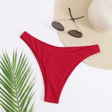 Braguitas de bikini Liso Rojo Sexy