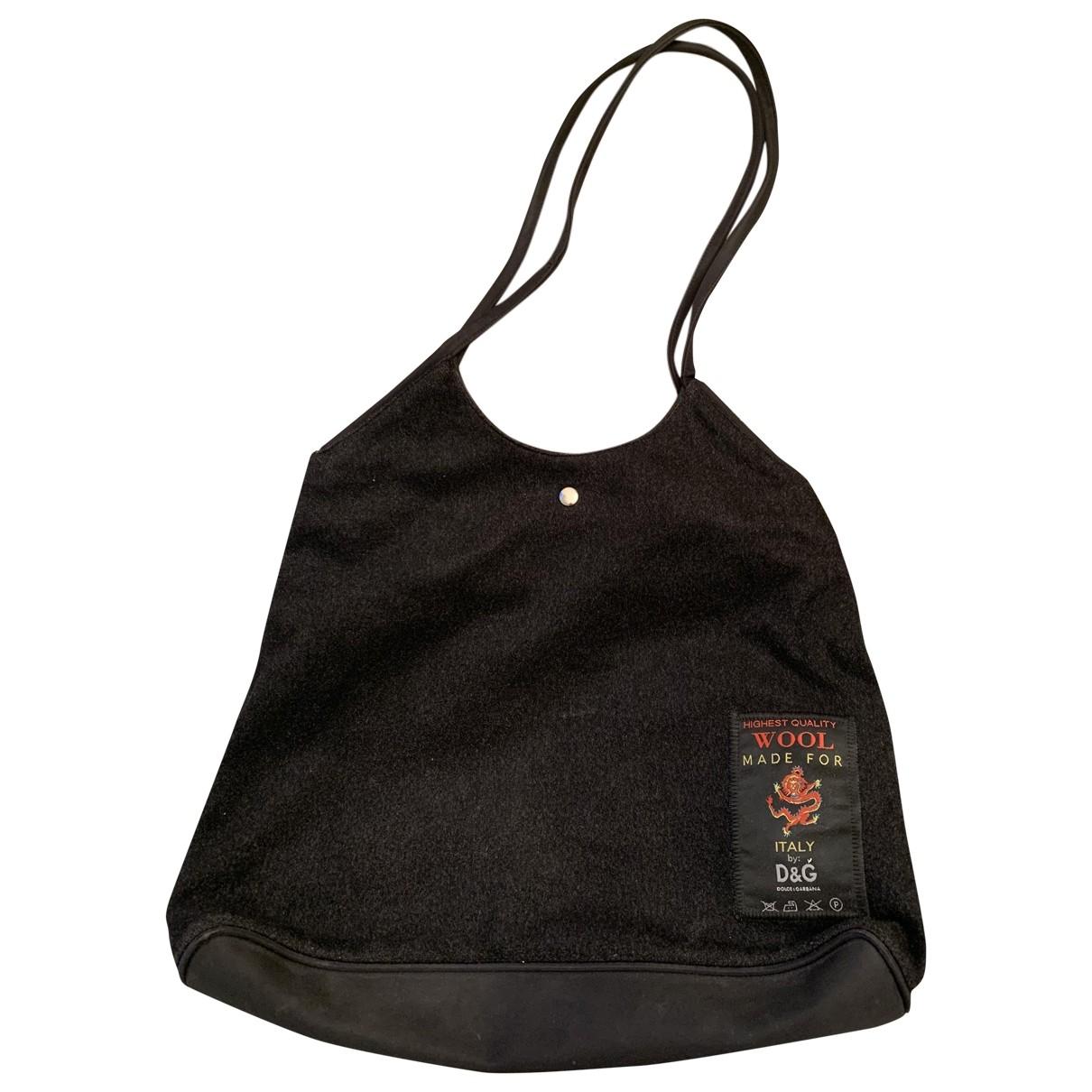 D&g \N Handtasche in  Grau Wolle