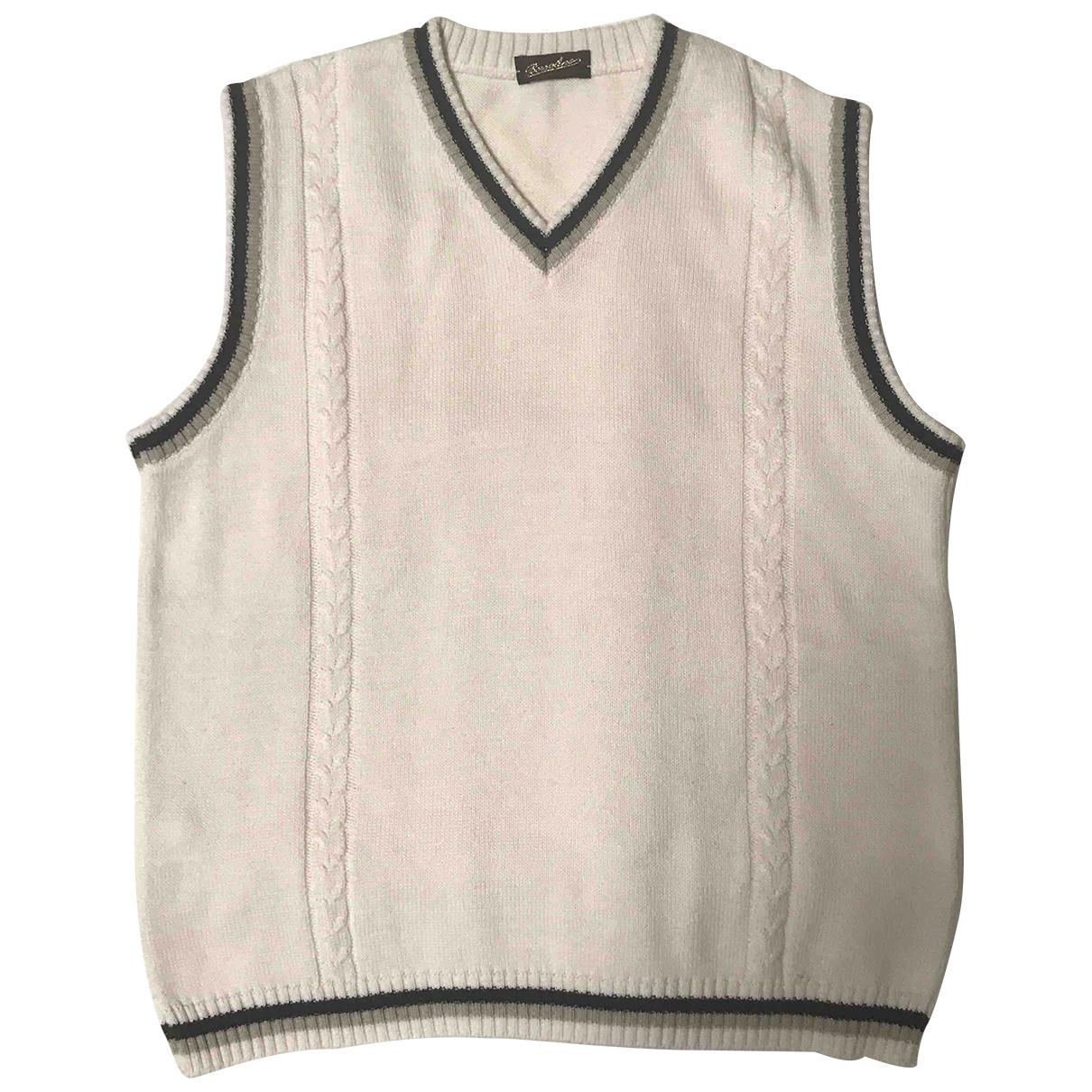 Borsalino \N Pullover.Westen.Sweatshirts  in  Weiss Baumwolle