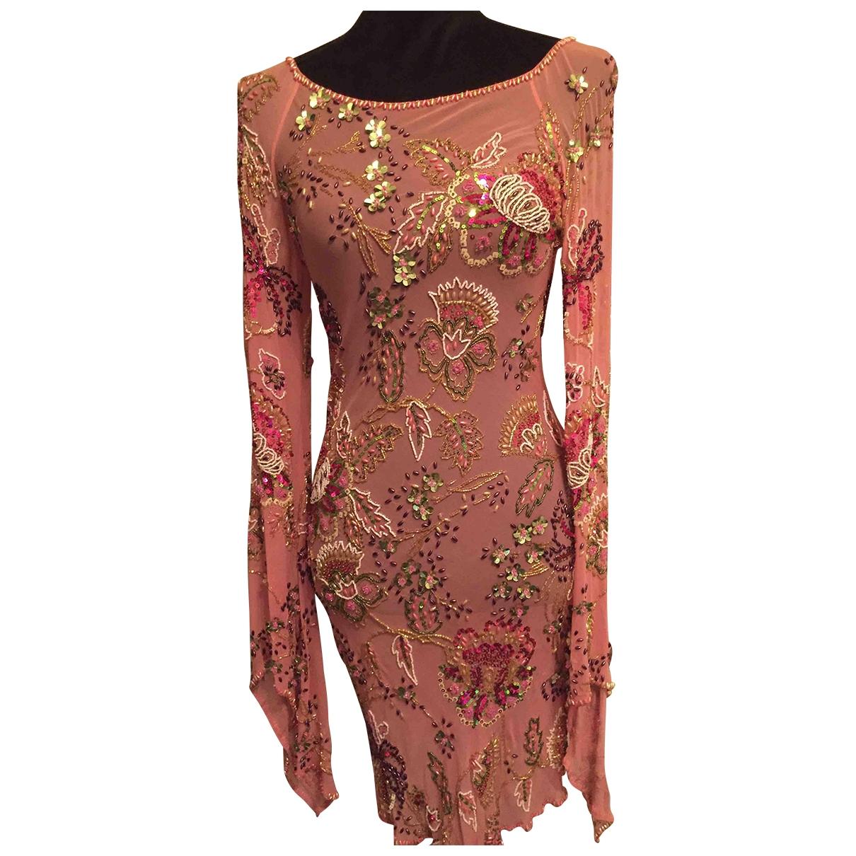 Jenny Packham \N Kleid in  Rosa Seide