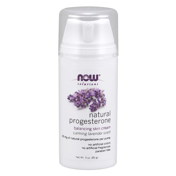 Progesterone Cream 3 Oz w Lavender by Now Foods