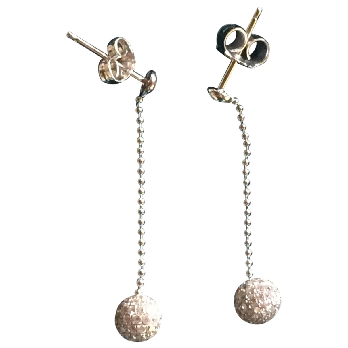 Autre Marque N Silver White gold Earrings for Women N