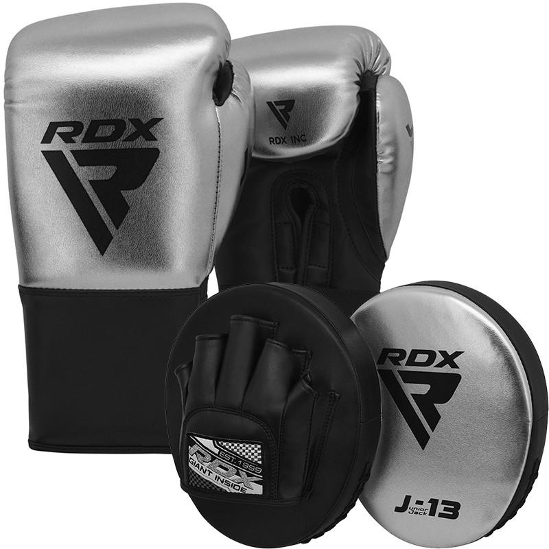 RDX J13 Guantes de boxeo de 8 oz y juego de manoplas de enfoque