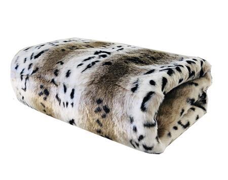 Snow Lynx Collection PBEZ1666-6084-TC 60W x 84L Faux Fur Luxury