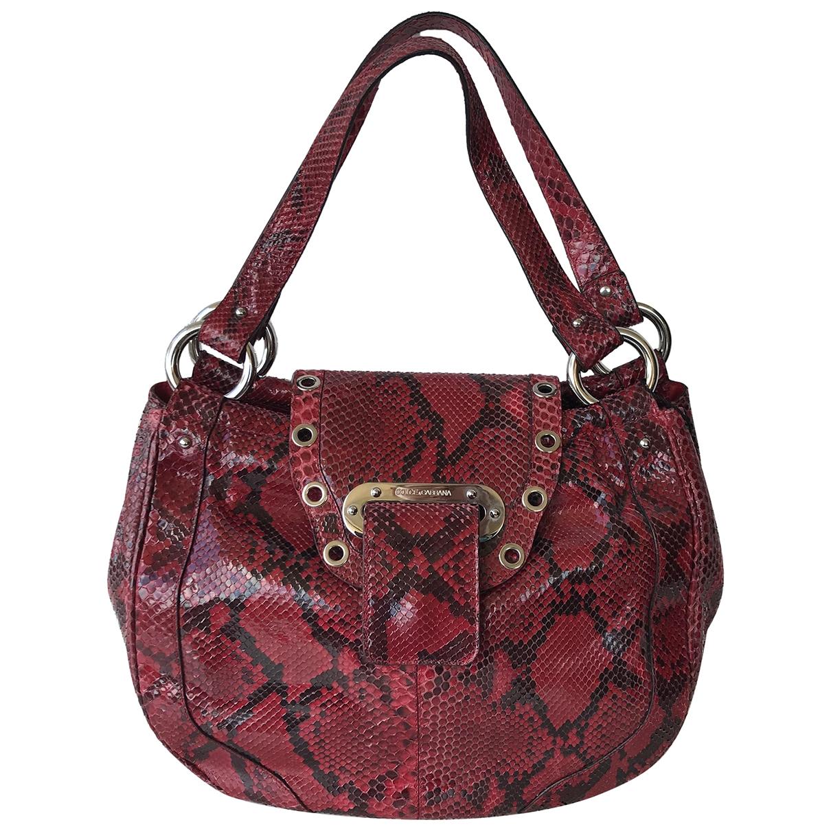 Bolso  de Piton Dolce & Gabbana