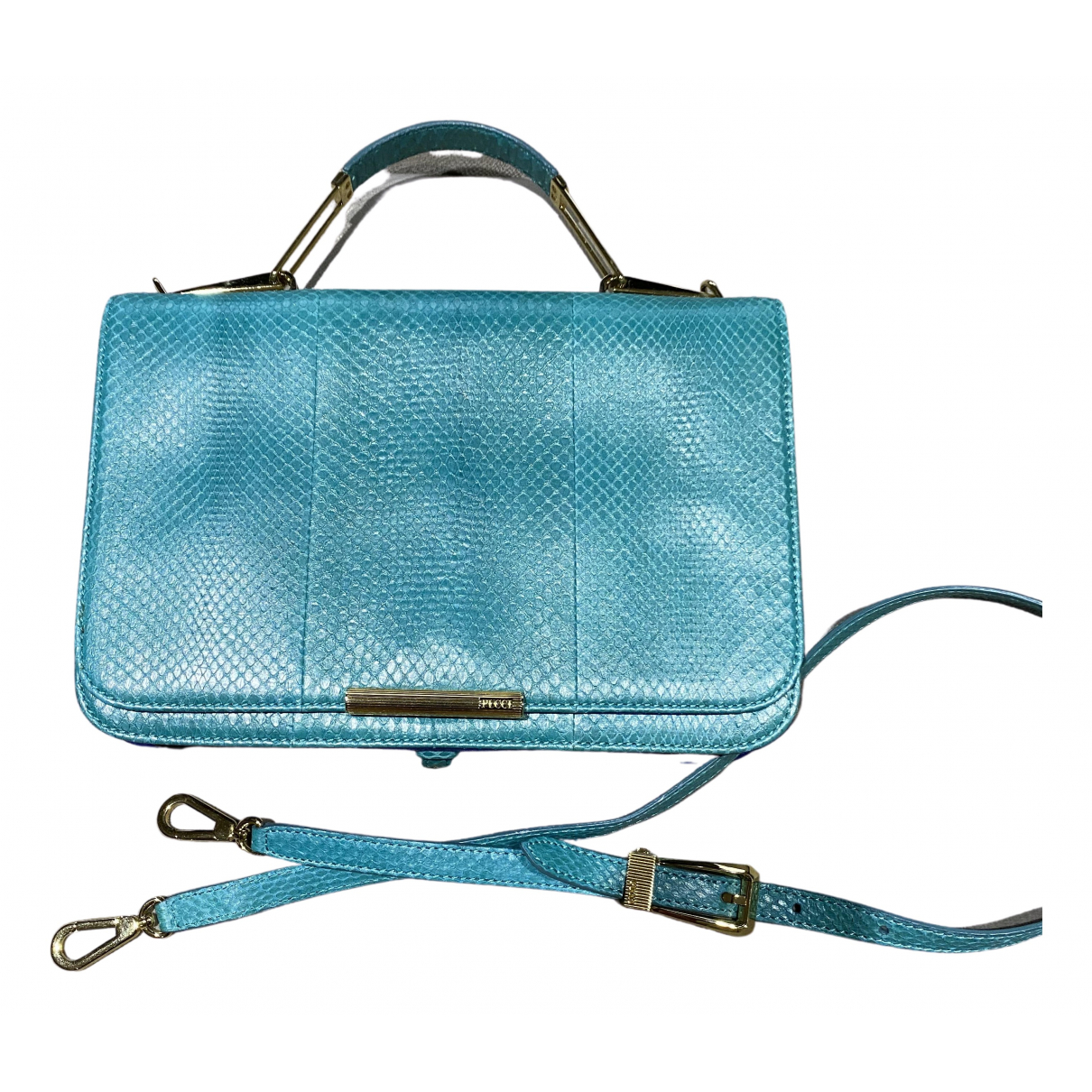 Emilio Pucci N Turquoise Leather handbag for Women N