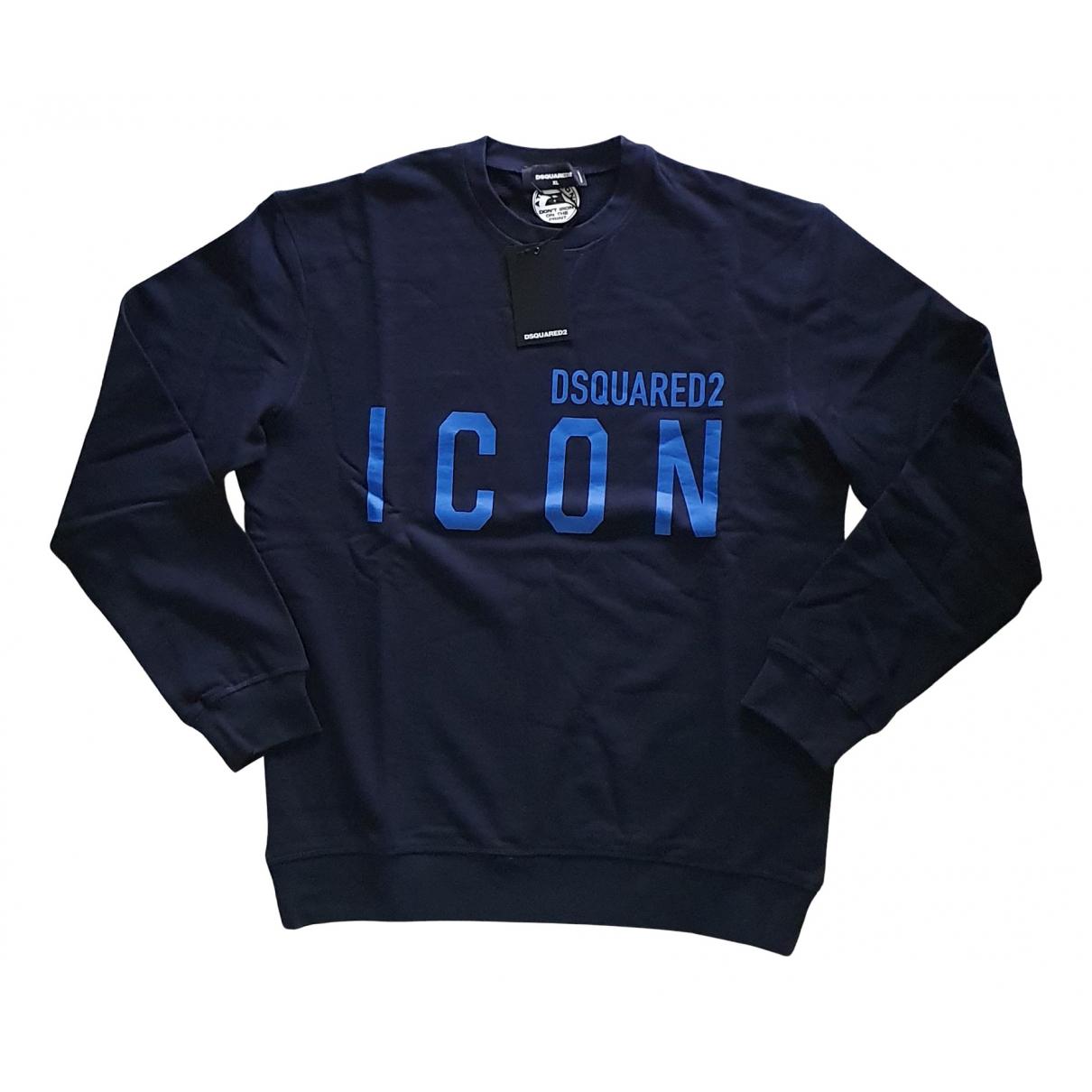 Dsquared2 \N Pullover.Westen.Sweatshirts  in  Marine Baumwolle