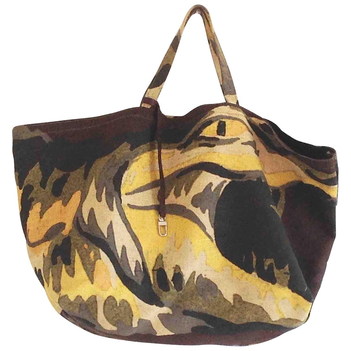 Lacoste \N Brown Linen handbag for Women \N