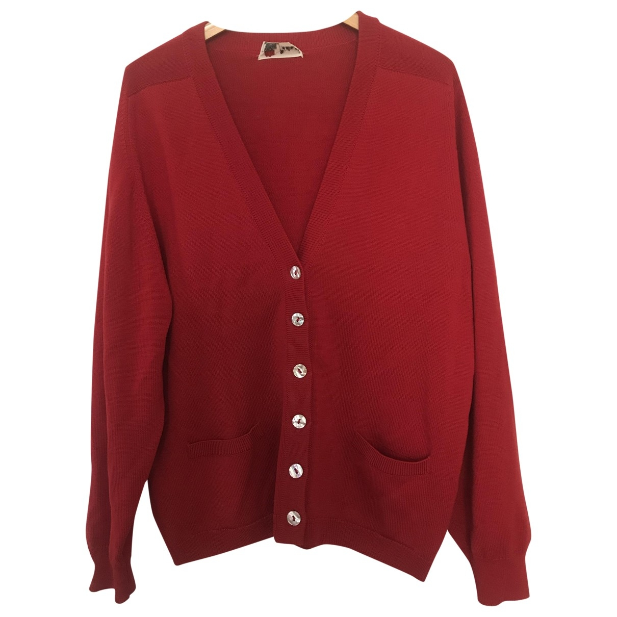 Pringle Of Scotland \N Pullover.Westen.Sweatshirts  in  Rot Wolle