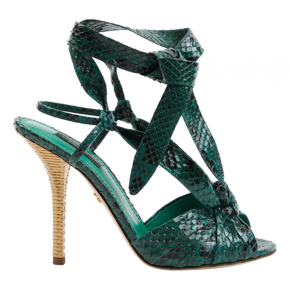 Dolce & Gabbana \N Sandalen in  Gruen Python