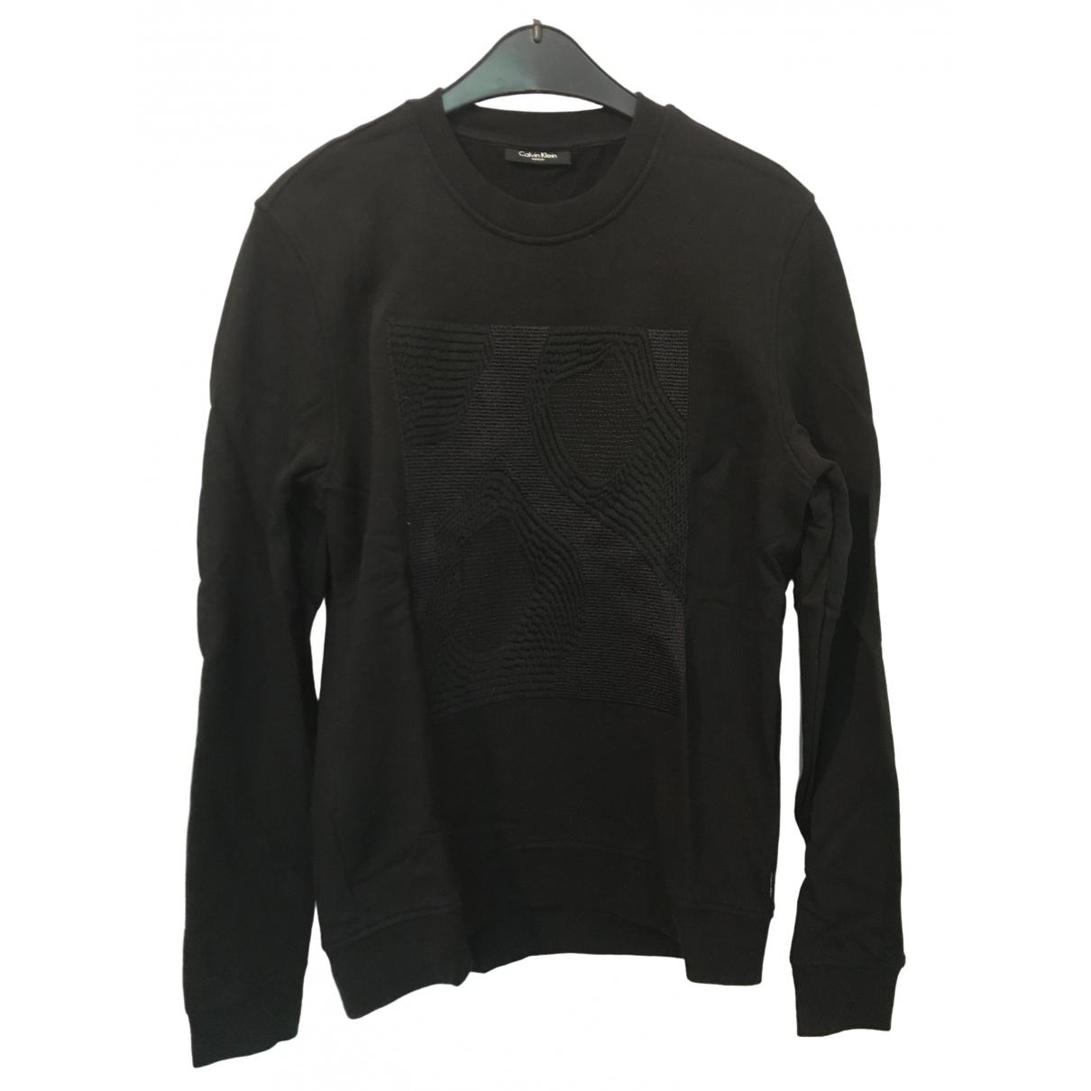 Calvin Klein \N Pullover.Westen.Sweatshirts  in  Schwarz Baumwolle