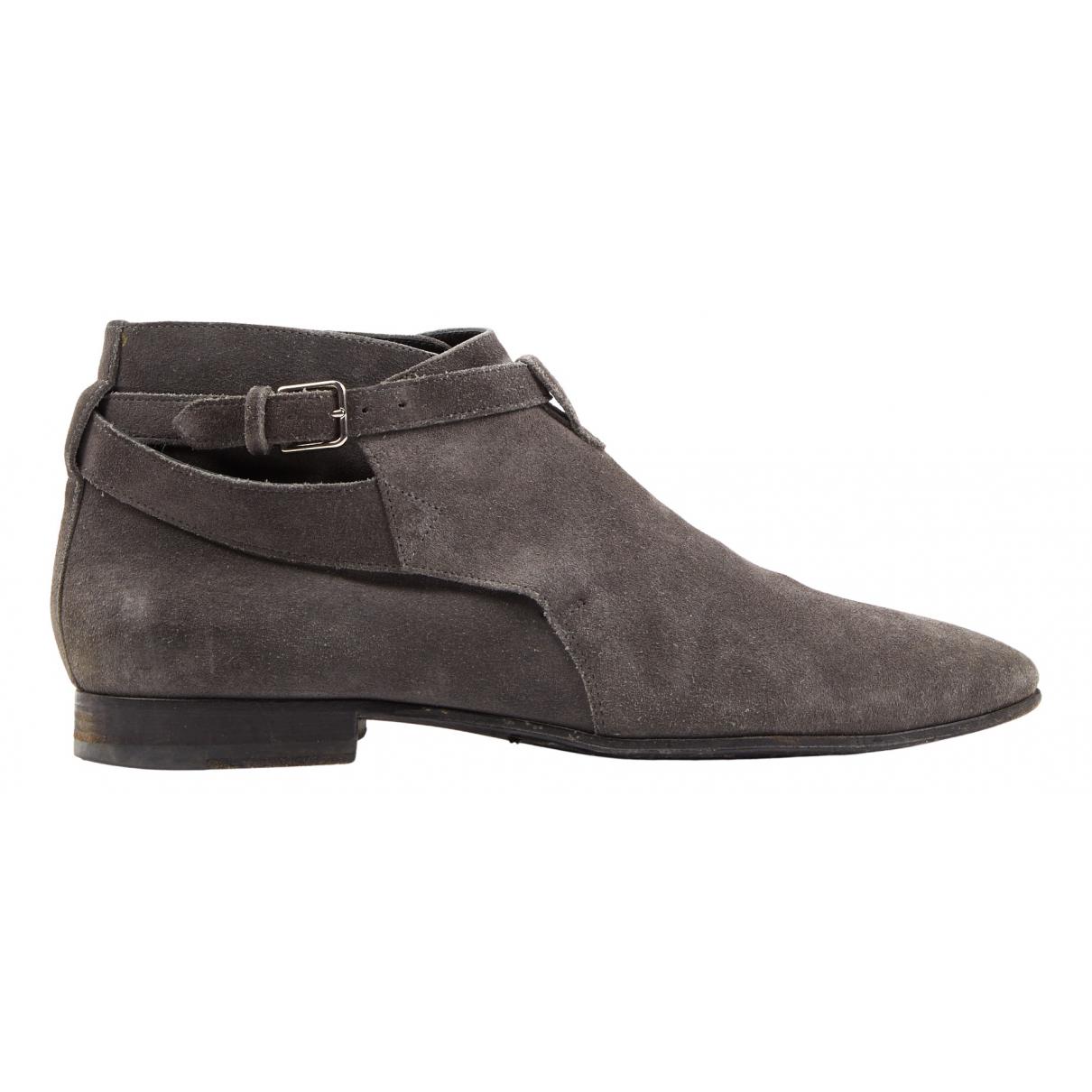 Saint Laurent Connor Jodphur Grey Suede Boots for Men 40 EU