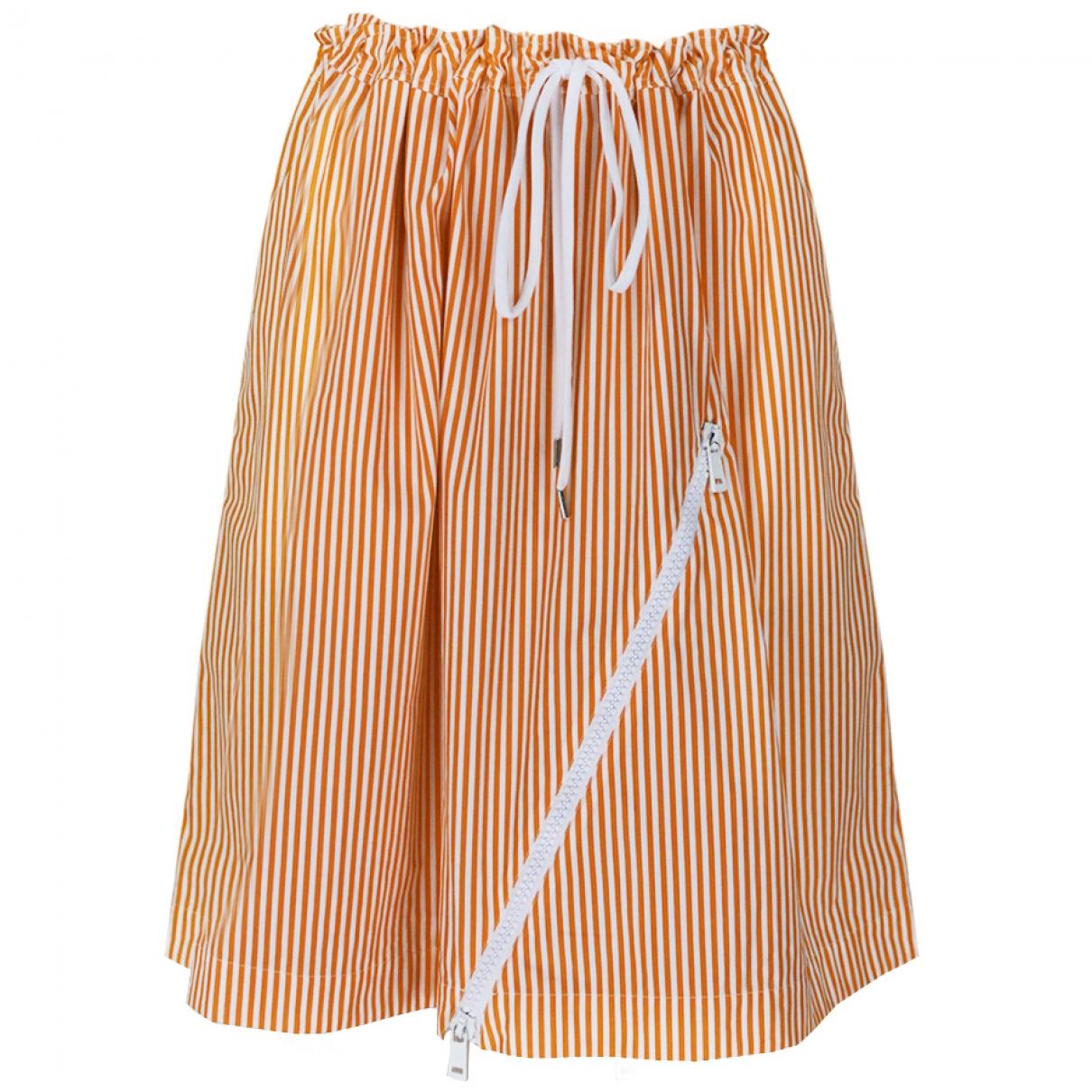 Jil Sander - Jupe   pour femme en coton - orange