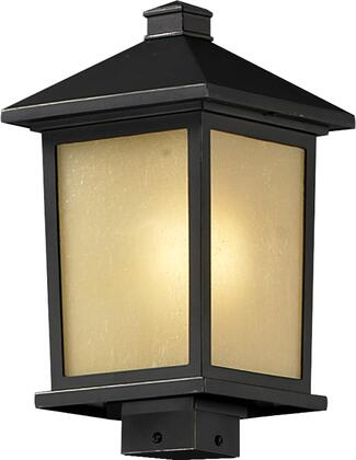 Holbrook 537PHB-ORB 9.5 Outdoor Post Light Contemporary  Urbanhave Aluminum Frame with Oil Rubbed Bronze finish in Tinted