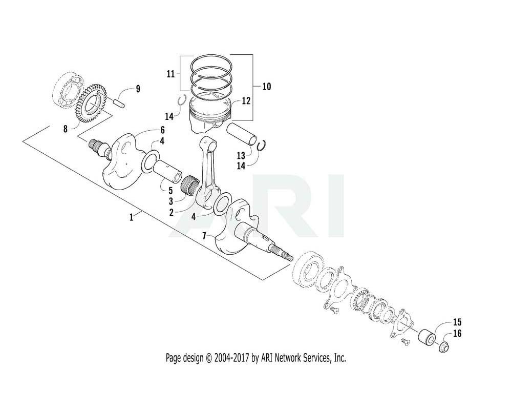 Arctic Cat OEM 0828-045 Gasket Plug 34.2X52X1