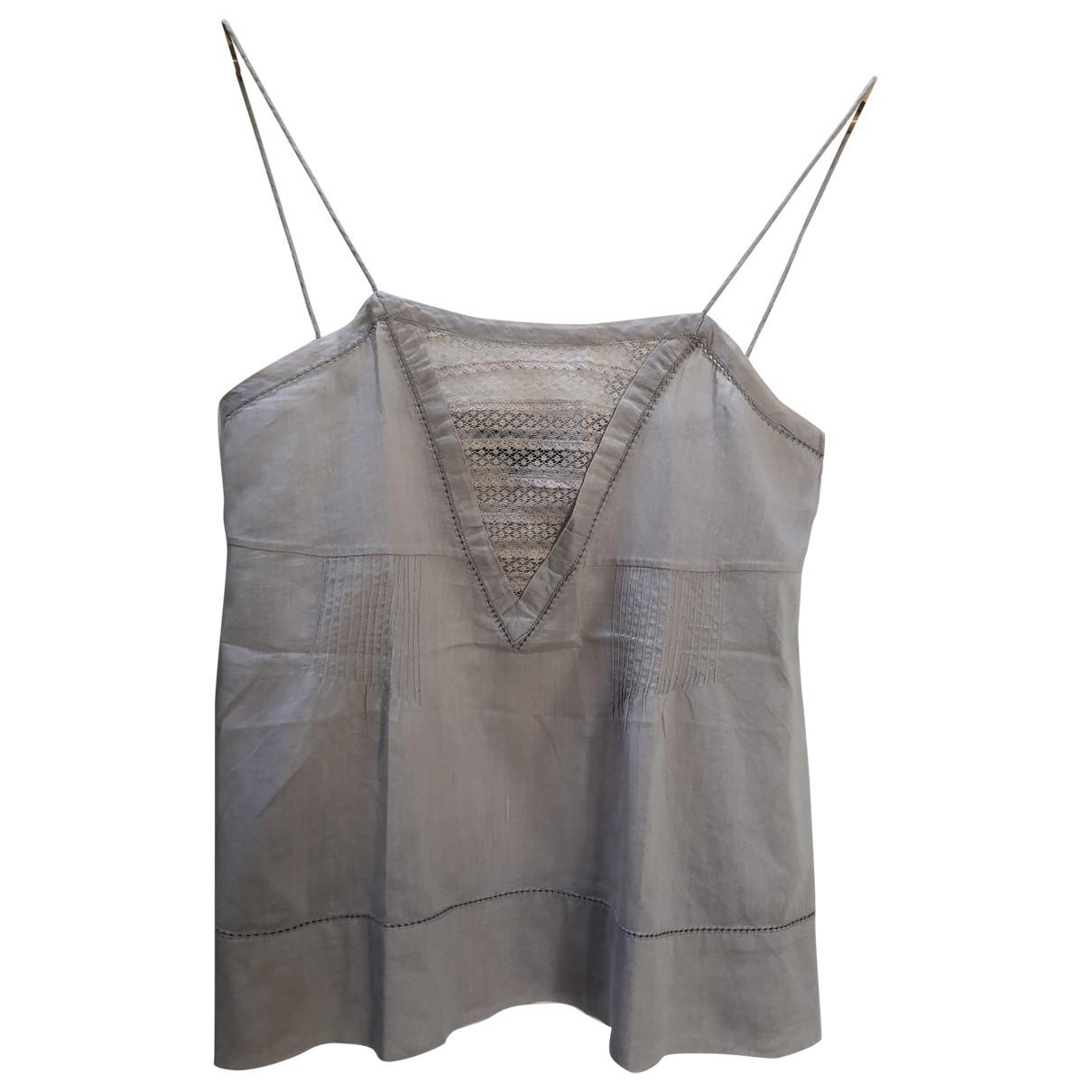 Isabel Marant Etoile - Top   pour femme en coton - gris