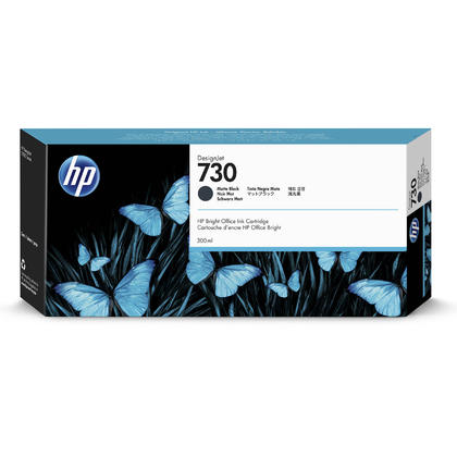 HP 730 P2V71A cartouche d'encre originale noir mat haute capacité 300ml