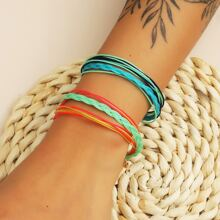 2pcs Braided Layered Bracelet