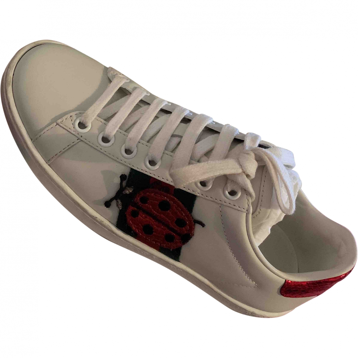 Gucci Ace White Leather Trainers for Women 34 EU