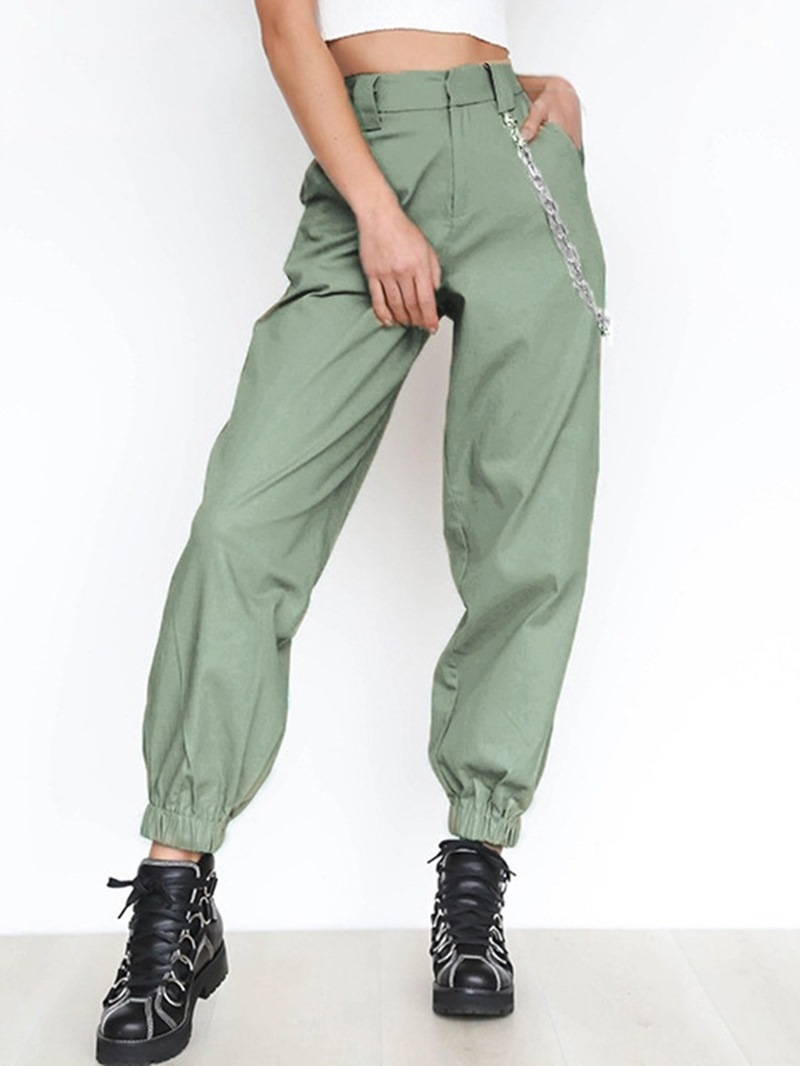 Ericdress Solid Quick Dry Polyester Full Length Running Pants