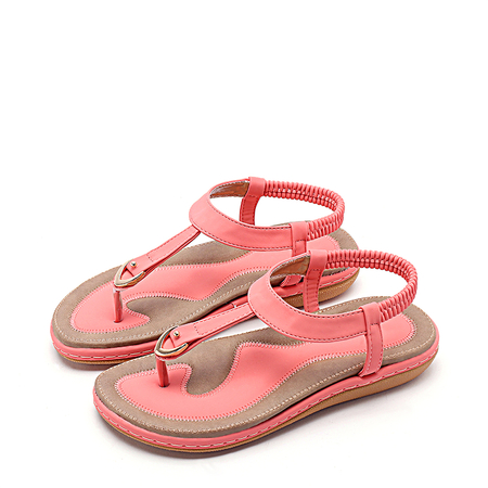 Yoins Contrast Color Flat Sandals in Pink