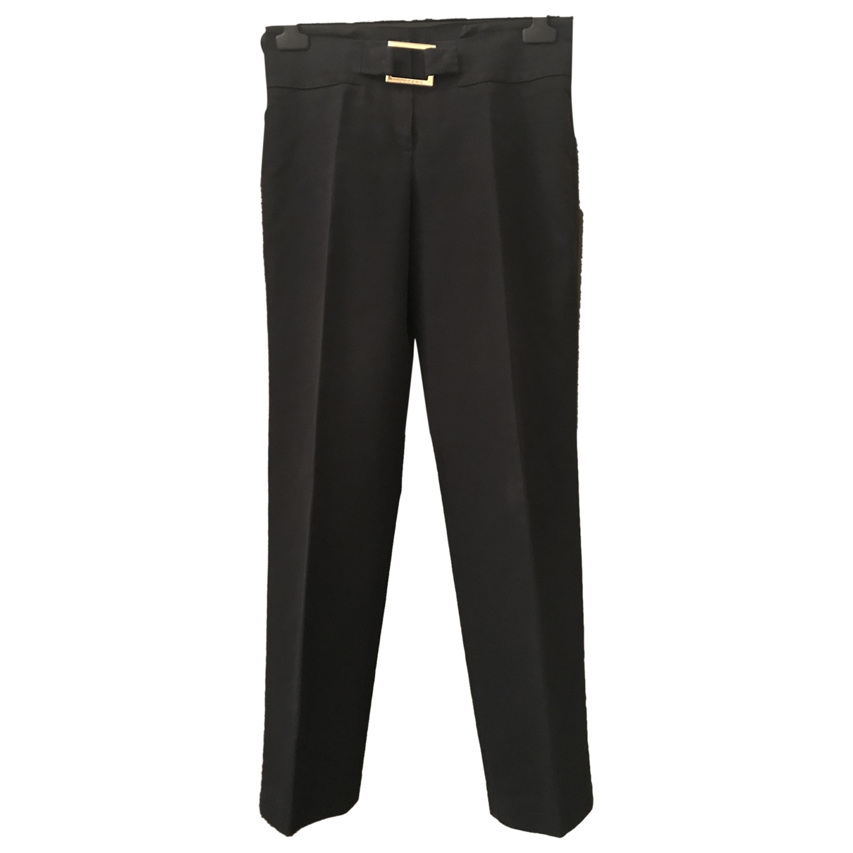 Iceberg \N Black Cotton Trousers for Women 42 IT