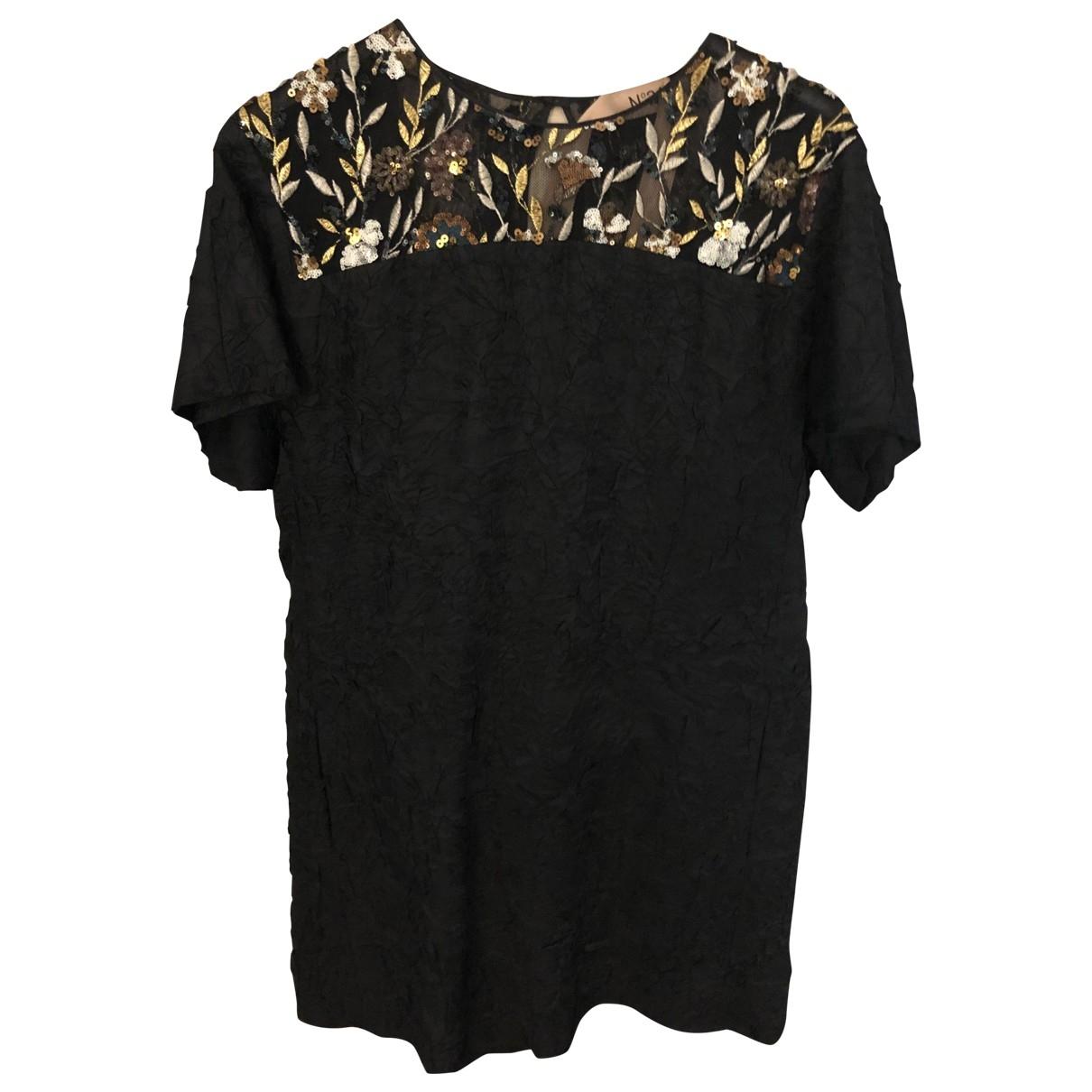 N°21 - Robe   pour femme en a paillettes - noir
