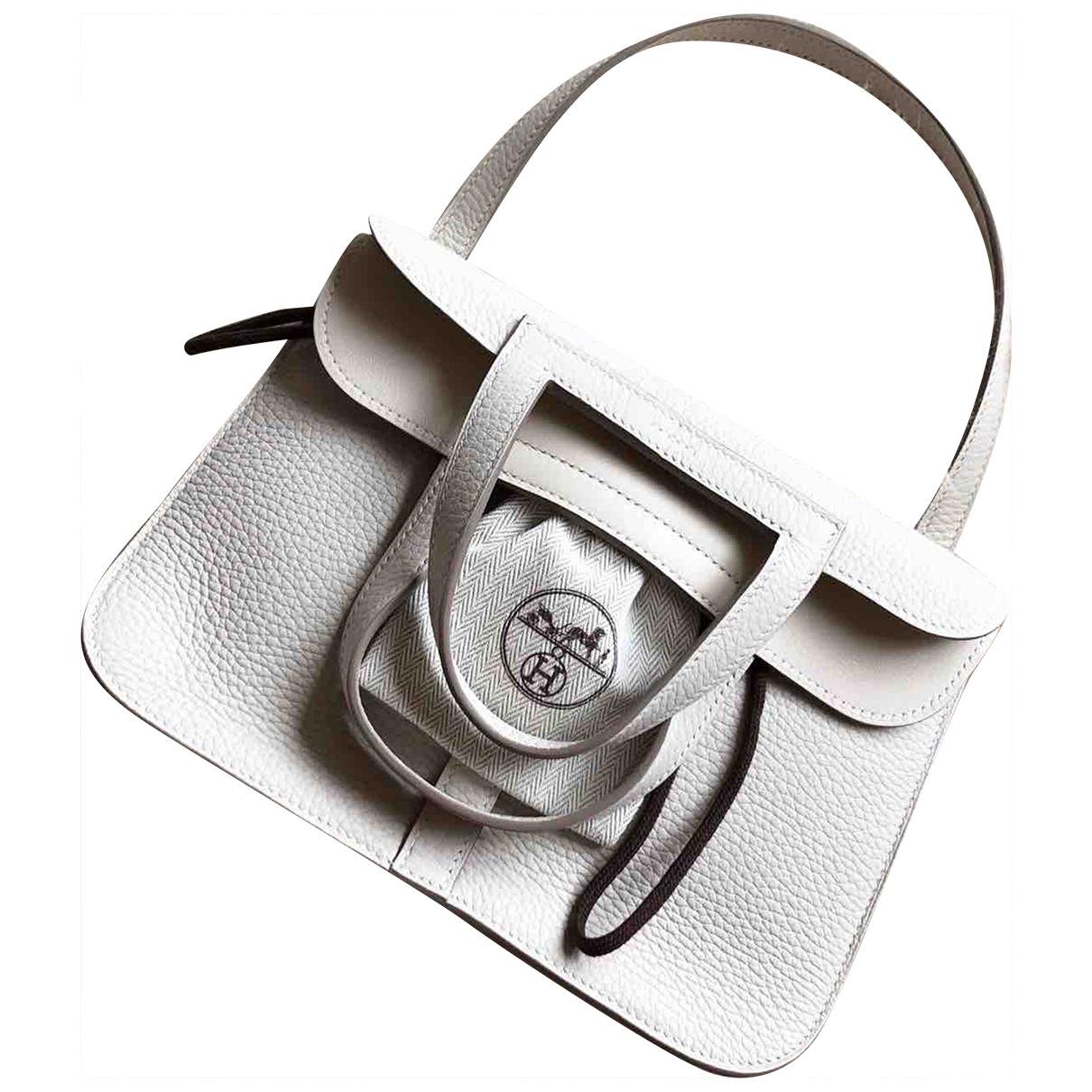 Hermès Halzan White Leather handbag for Women \N