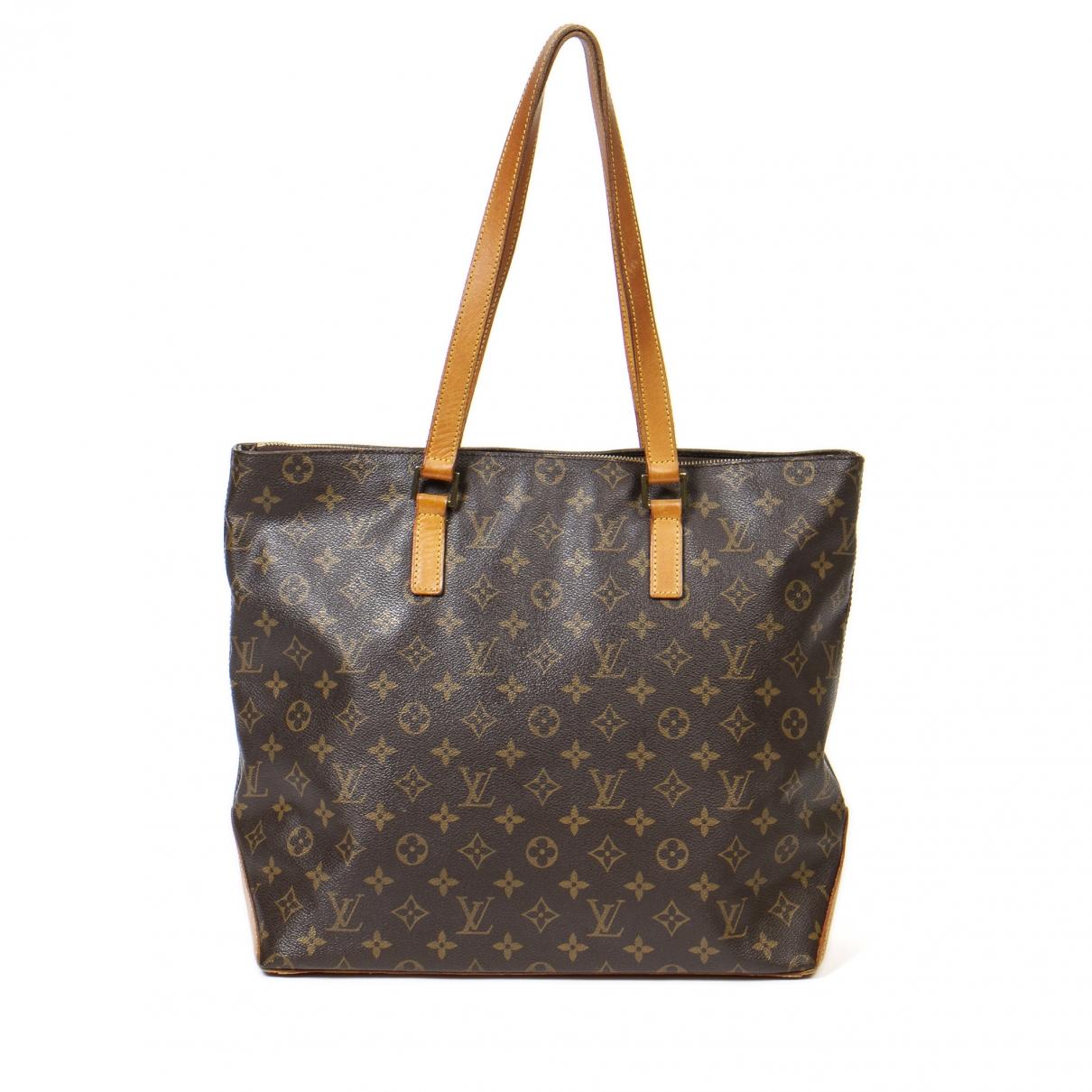 Louis Vuitton Mezzo  Handtasche in  Braun Baumwolle