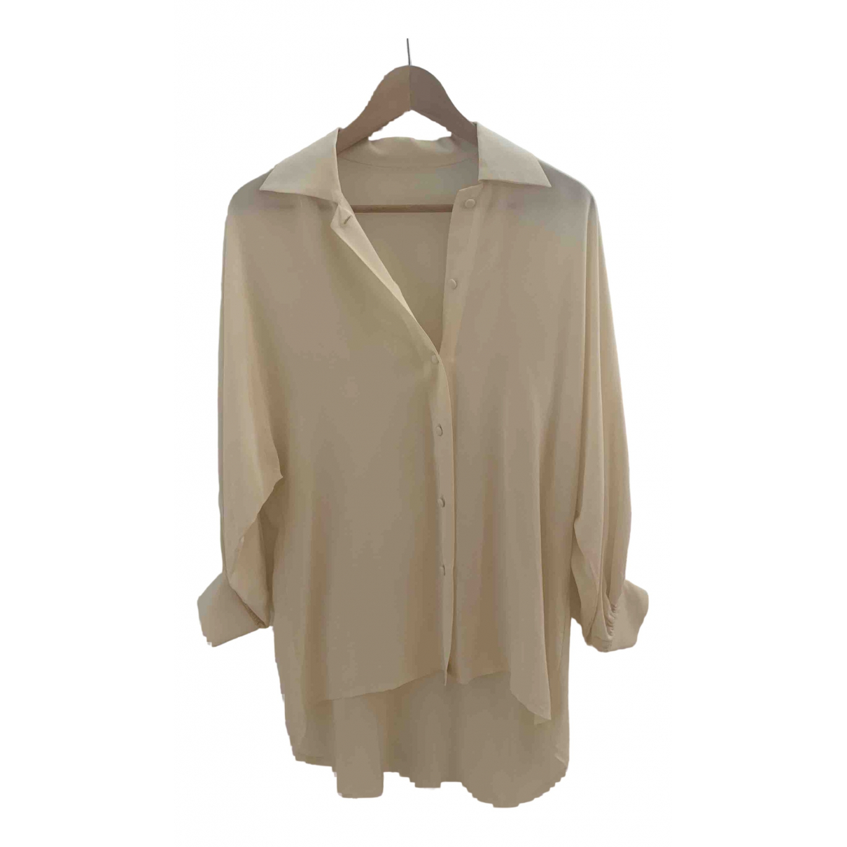 Non Signé / Unsigned Oversize Silk  top for Women M International