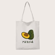 Japanese Letter Graphic Shopper Bag