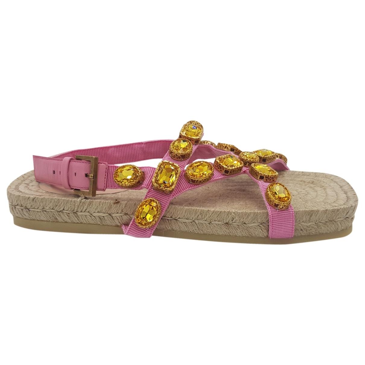 Gucci - Sandales   pour femme en toile - rose