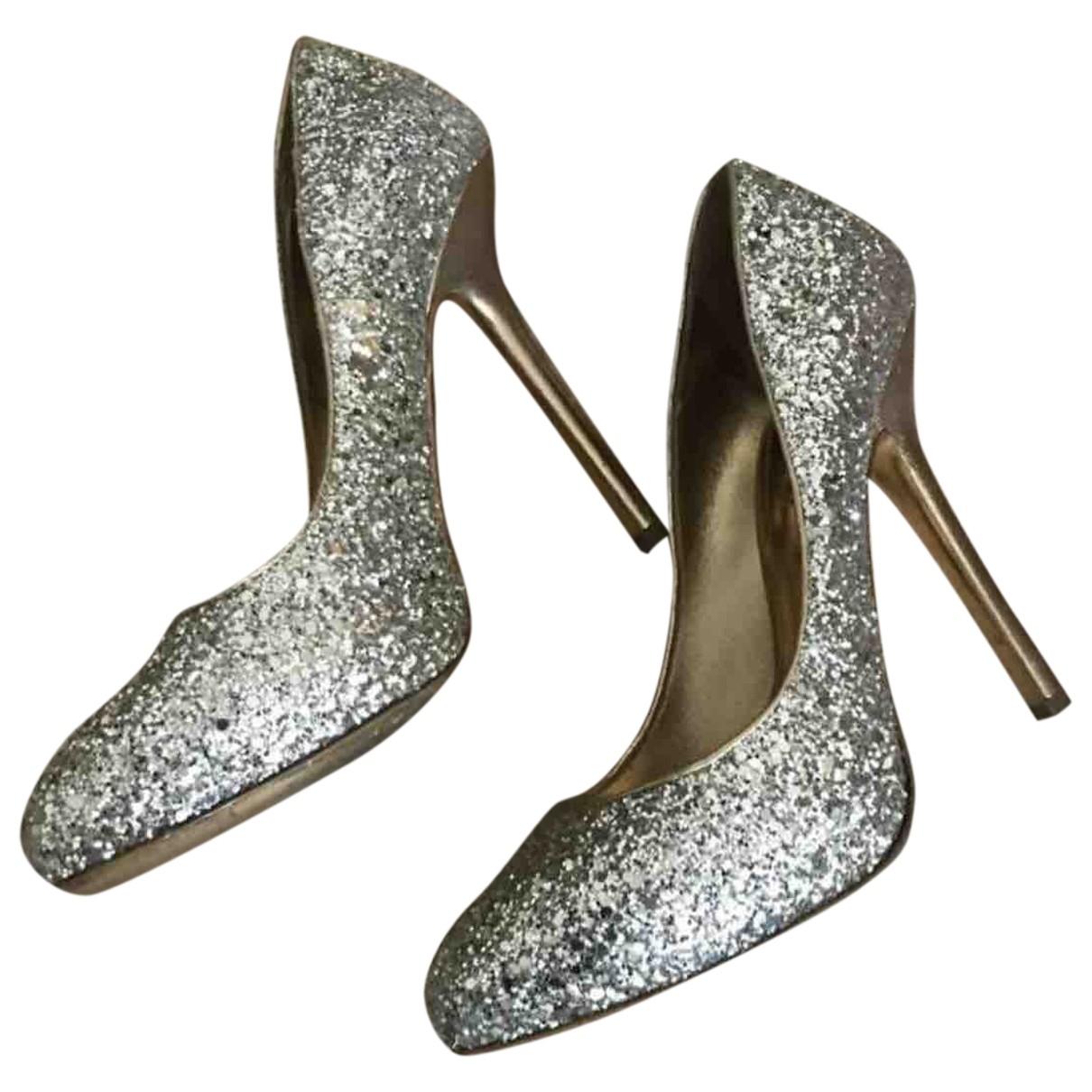 Miu Miu \N Gold Glitter Heels for Women 38 EU