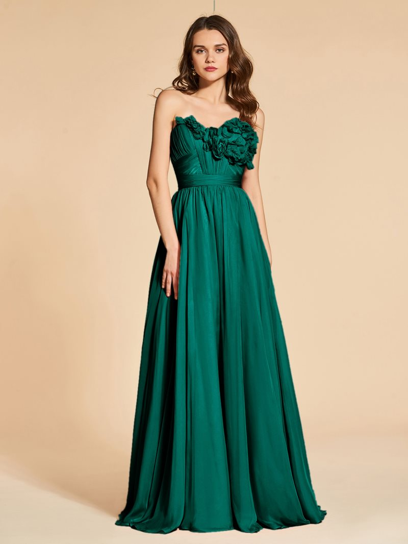 Ericdress A Line Sweetheart Flowers Backless Evening Dress