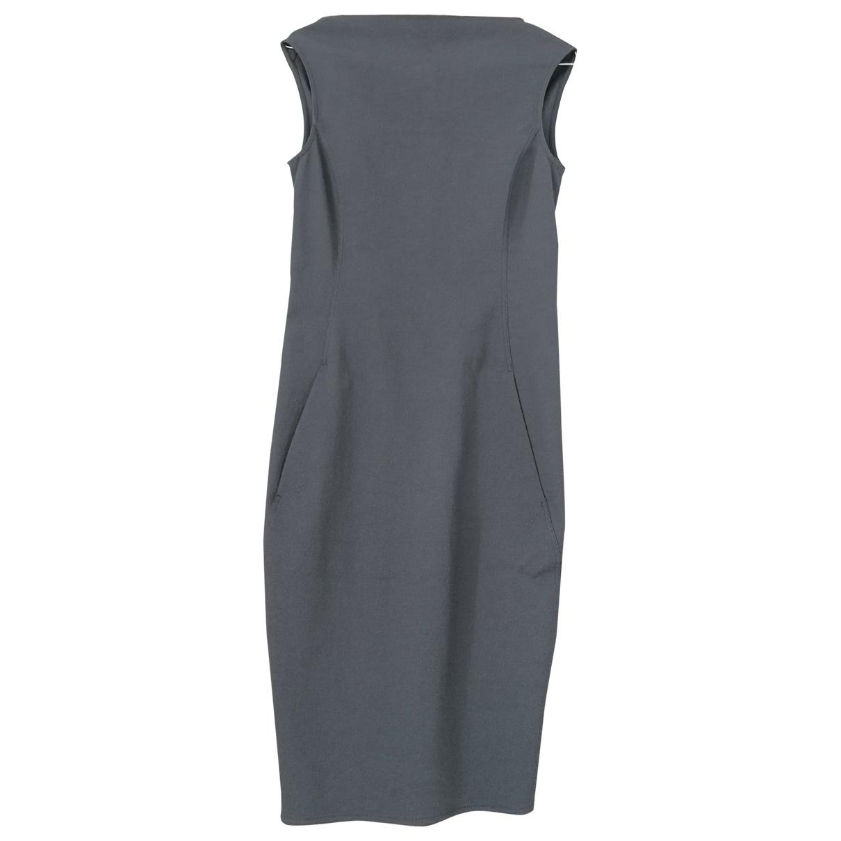 Rick Owens - Robe   pour femme en coton - elasthane - anthracite