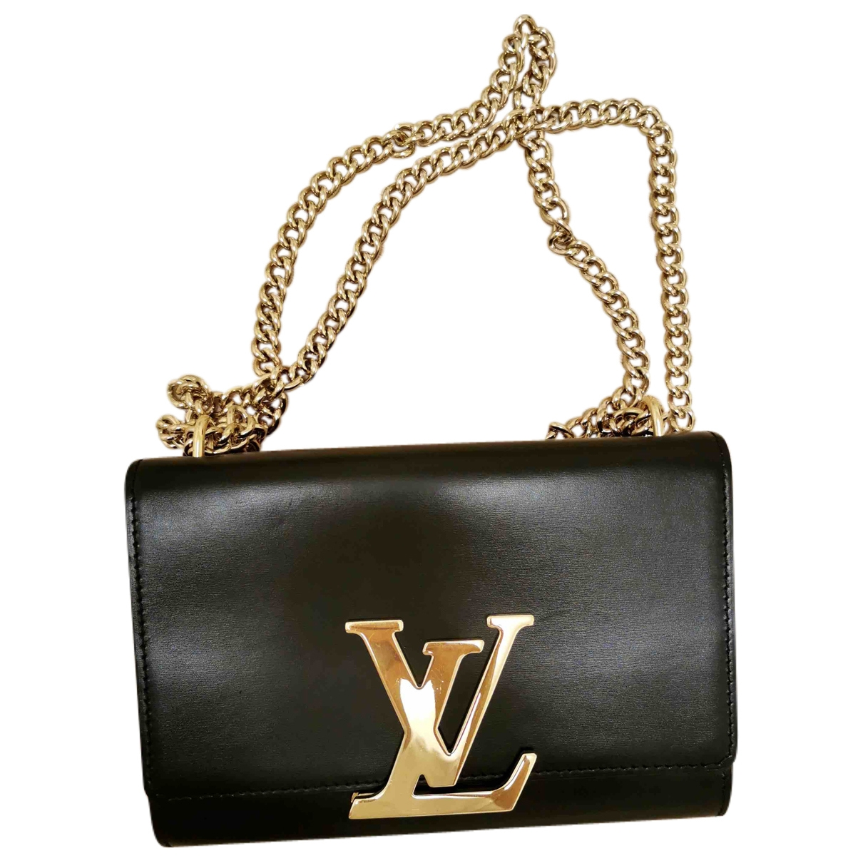 Louis Vuitton Louise Black Leather handbag for Women \N