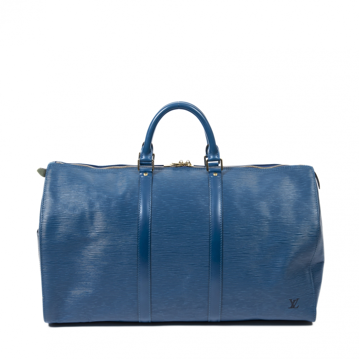 Louis Vuitton Keepall Reisetasche in  Blau Leder