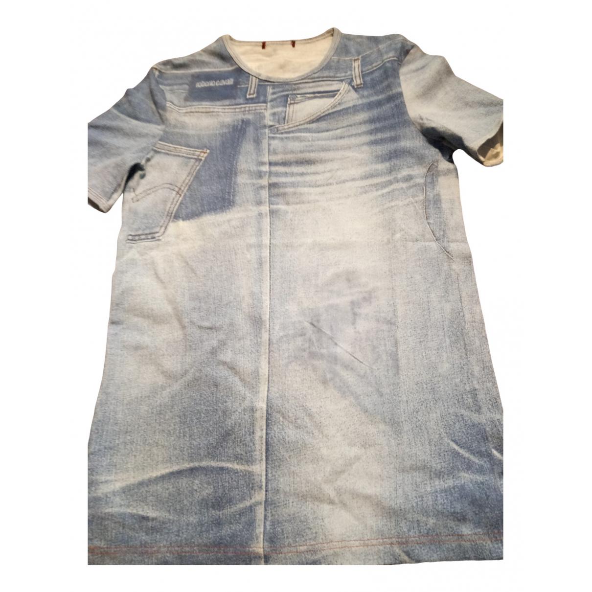 Roberto Cavalli \N Turquoise Cotton T-shirts for Men XS International