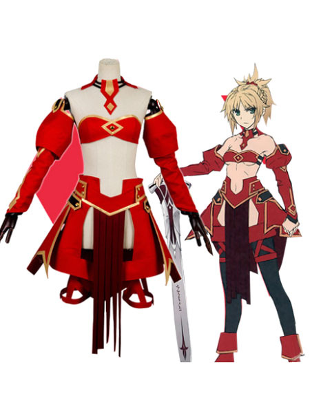 Milanoo Fate Apocrypha Saber Of Red Mordred Halloween Cosplay Costume