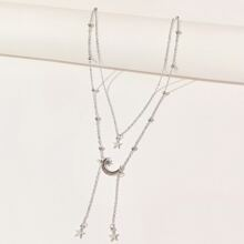 Star & Moon Layered Necklace