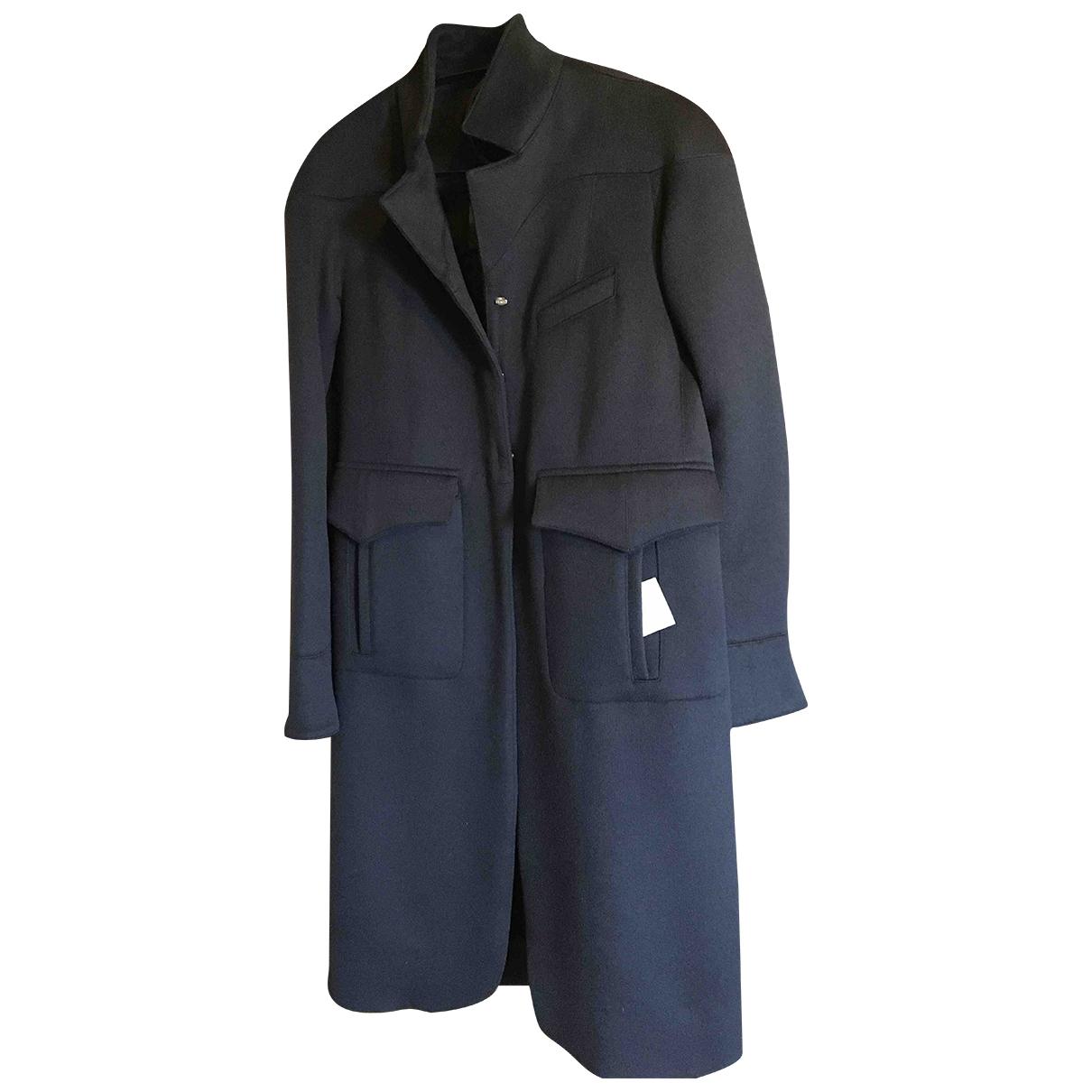 Fendi \N Blue Wool coat for Women 44 IT