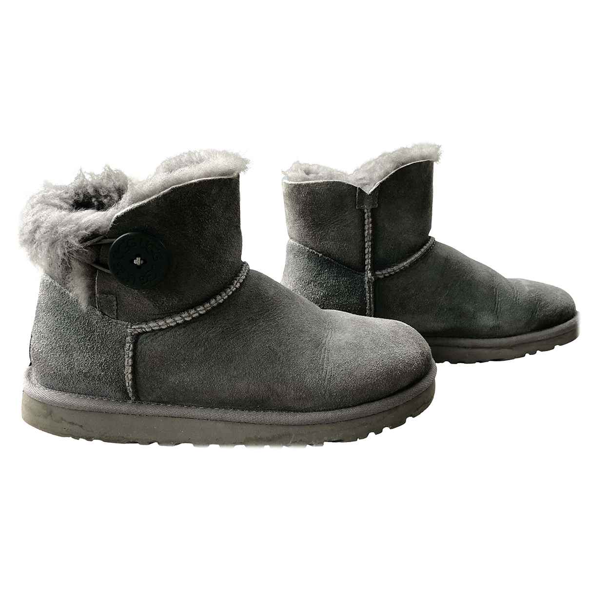 Ugg N Grey Suede Ankle boots for Women 36 EU