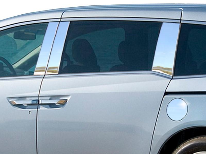 Quality Automotive Accessories 6 Piece Stainless Pillar Post Trim Honda Odyssey  11-17