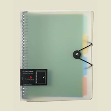 1pc Loose-leaf Book Shell With 4pcs Separator Page