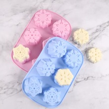 1pc Random Color Snowflake Cake Mold