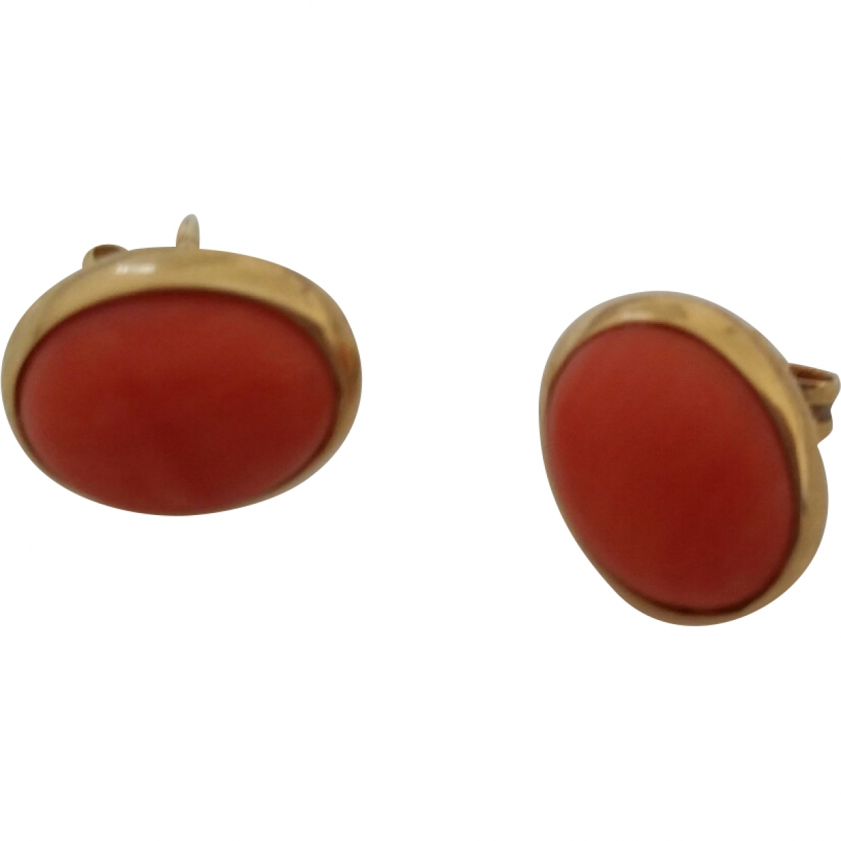 Non Signé / Unsigned Corail Yellow Yellow gold Earrings for Women \N