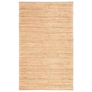 Solis Natural Jute Stripe Area Rug (26 x 4 - Tan/White)